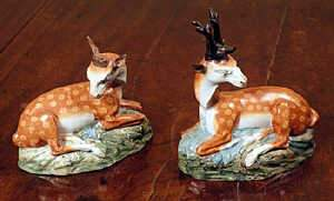 Pair of Staffordshire pearlware models