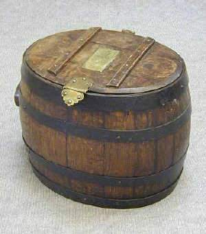 C19TH OAK BARREL