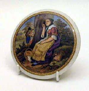 STAFFORDSHIRE POT LID, C19th