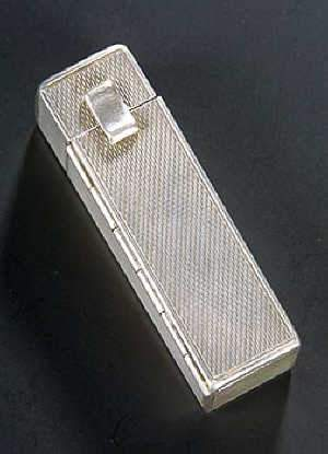 Rectangular engine turned lipstick holder