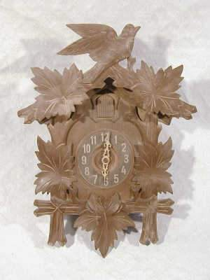 Mid-European carved cuckoo clock