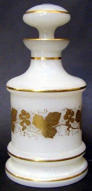 OPAQUE OPALINE COLOGNE BOTTLE, c1860