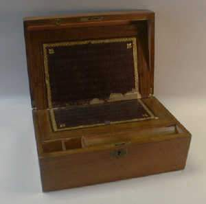 Victorian walnut writing box