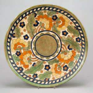 Large Crown Ducal 'Byzantine' wall plate