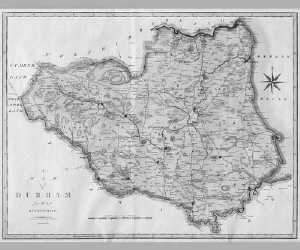 Engraved map of Durham, 1805