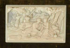 19th century Continental ivory plaque