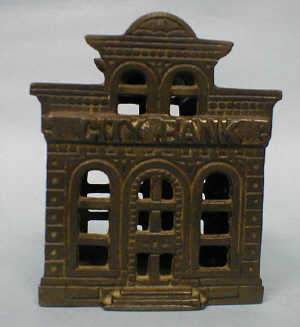 Cast iron openwork money box