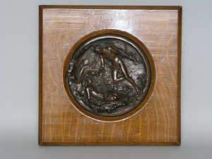 Victorian copper relief plaque, c1880