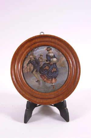 Staffordshire Pot Lid 'The Skaters'