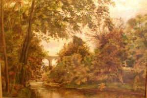 C19th Landscape with Aquaduct, oil