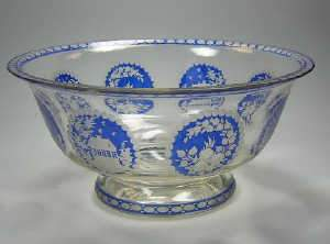 Bohemian bowl, early C20th