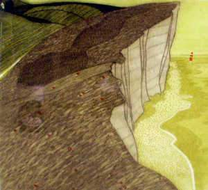 John Brunsden (b.1933 British) Beachy Head, Aquatint
