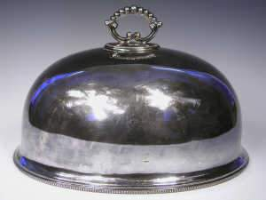 Victorian silver plated dish cover by William Hutton & Sons