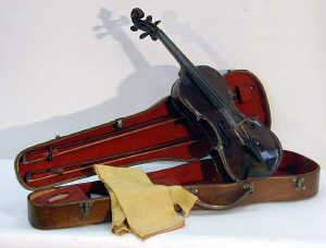 Antique Violin & Bows