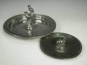 Just Anderson pewter dish, Denmark 1929