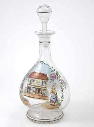 Victorian glass decanter