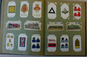 Four cigarette card albums
