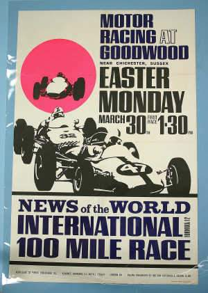 Motor Racing: poster advertising Goodwood