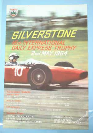 Motor Racing: poster advertising Silverstone