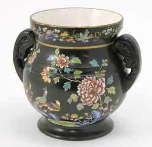 Late 19th century Spode chinoiserie pot
