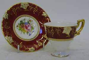 ROYAL CROWN DERBY CABINET CUP AND SAUCER