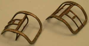 Pair of early 19th century steel shoe buckles