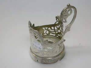 Russian silver glass holder