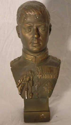 Bust of King Edward VIII in Military Uniform