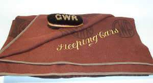 GWR car sleeping blanket