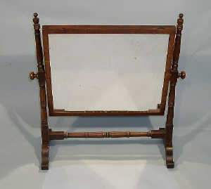 19th century mahogany swing dressing mirror