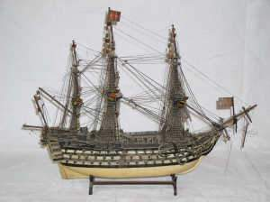 Wooden model of HMS Victory