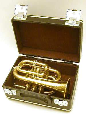 CASED BRASS CORNET