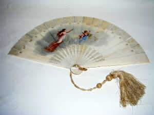 French painted ivory fan