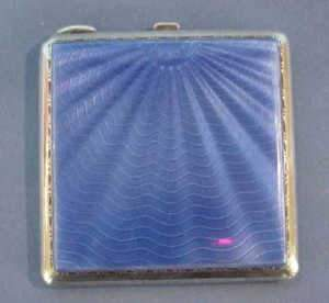 1930's Birmingham Silver And Enamelled Compact
