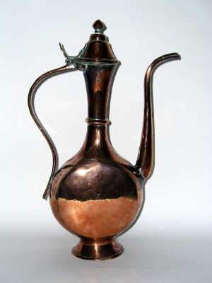 Middle Eastern copper wine jug