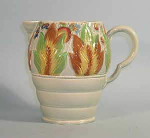 Clarice Cliff ribbed jug