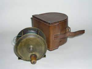 Brass centre pin fishing reel