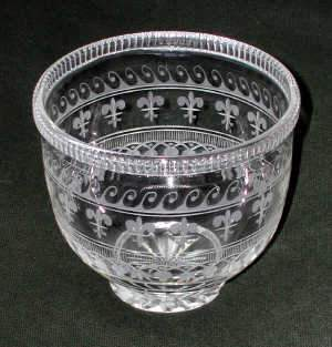 Pair of 19th Century cut glass tea caddy bowls