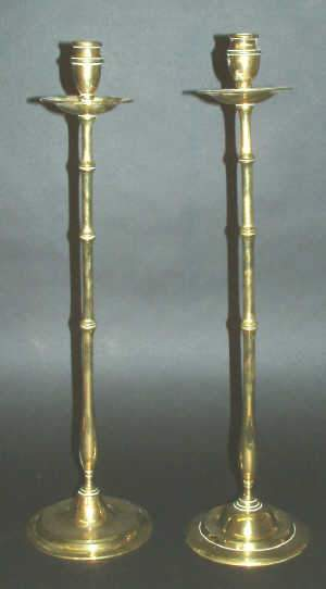 LARGE PAIR OF EARLY C20TH BRASS