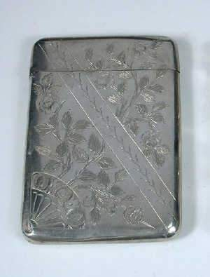 A Victorian silver calling card case by David and Lionel Spears, Birmingham 1875