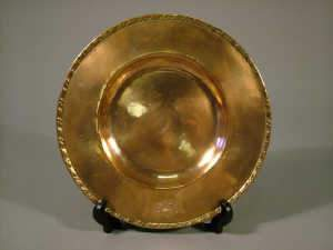 Keswick School of Industrial Art circular copper dish