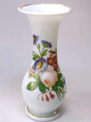 Mid 19th century milch glass vase