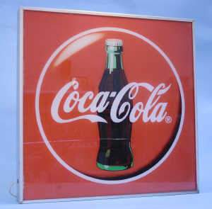 Illuminated 'Coca Cola' advertising sign