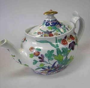 19th century Spode stone-china teapot and cover