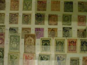 Stock book of Italian postage stamps