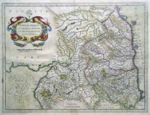 Hondius, Henricus. Handcoloured engraved map