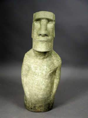 Carved stone model of an Easter Island figure