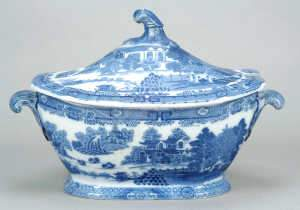 Early Spode Forest Landscape pattern soup tureen
