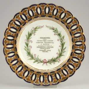 Dated Minton presentation plate