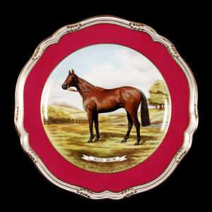 Spode fine bone china Red Rum plate, c1978